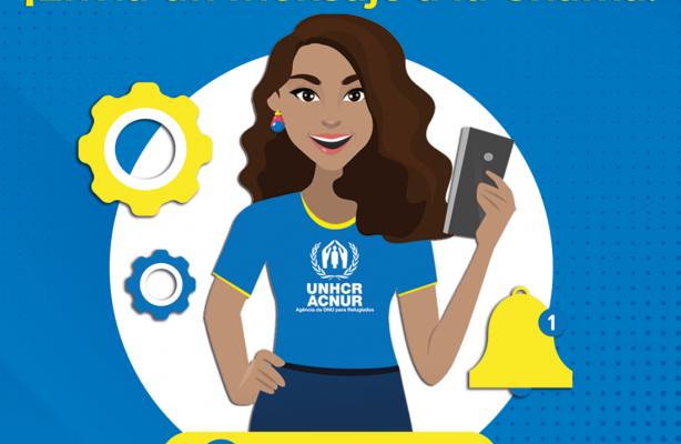 """thumbnail de ACNUR lança chatbot """"Chama"""" para reforçar comunicação com refugiados e migrantes da Venezuela"""