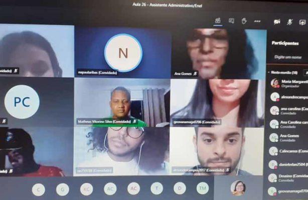 thumbnail de Beneficiários do Enel Compartilha Oportunidade em Goiás participam de cursos profissionalizantes online