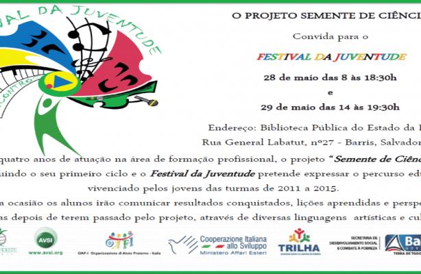 thumbnail de Semente de Ciência convida para o I Festival da Juventude
