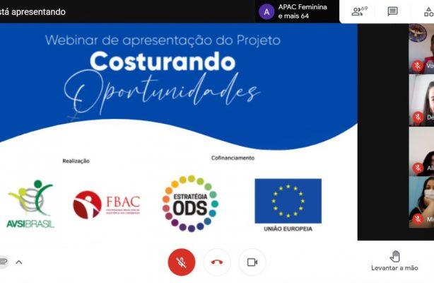 thumbnail de Projeto Costurando Oportunidades inaugura atividades com o primeiro webinar sobre a Agenda 2030 para funcionários de APACs femininas