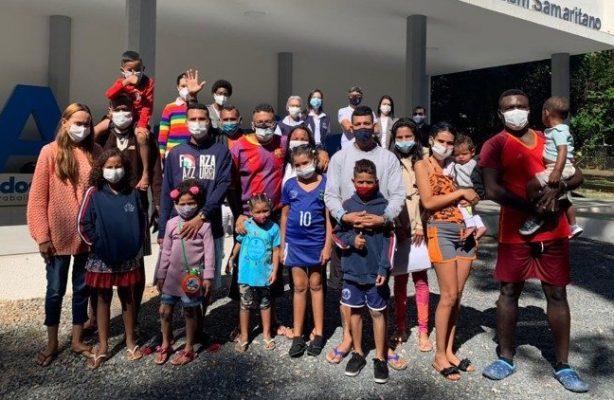 thumbnail de Casa do Bom Samaritano recebe grupo de 19 migrantes venezuelanos