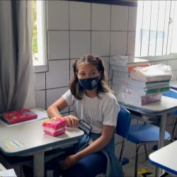 Malu Mousinho, de 10 anos, é aluna do quinto ano da Escola Municipal José Múcio...